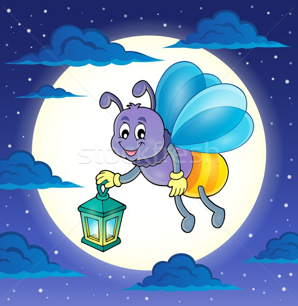 Luciole lanterne image ciel sourire nature Photo stock © clairev
