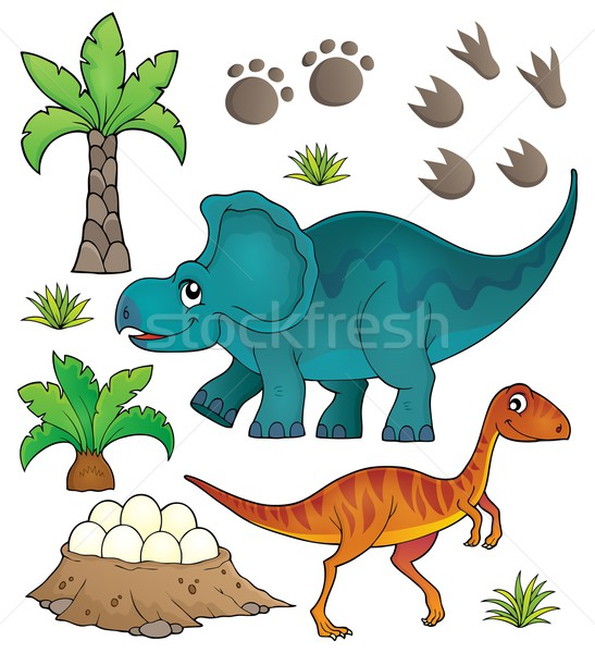 Dinosaur topic set 6 Stock photo © clairev