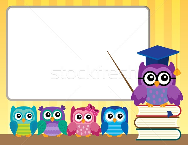 Owl teacher and owlets theme image 9 Stock photo © clairev