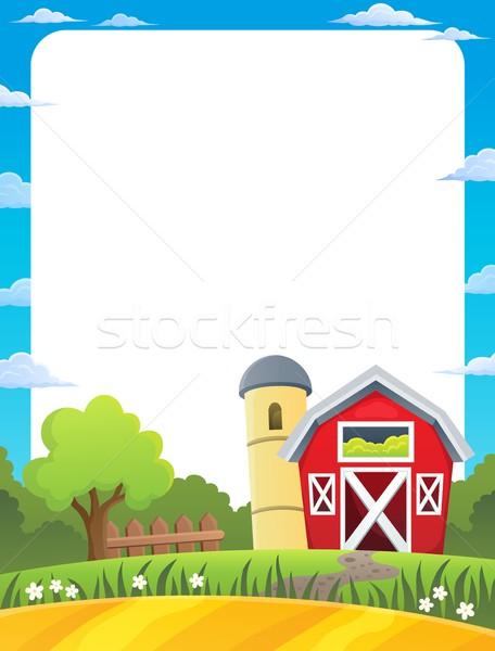 Frame with farmland theme 1 Stock photo © clairev