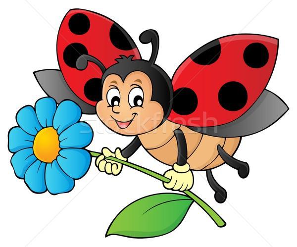 Uğur böceği çiçek görüntü doğa sanat Stok fotoğraf © clairev