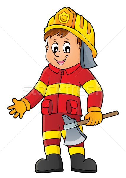 Firefighter man image 1 Stock photo © clairev