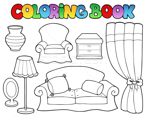 Coloring book various furniture 1 Stock photo © clairev