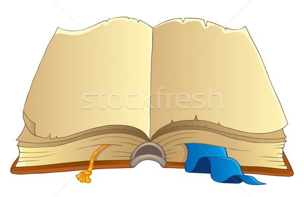 Starej książki obraz papieru sztuki edukacji historii Zdjęcia stock © clairev