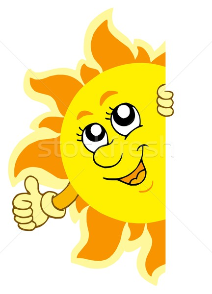 Stock photo: Lurking Sun with hands