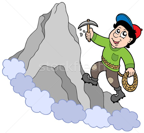 Rock climber on mountain Stock photo © clairev