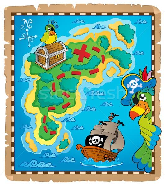 Карта сокровищ тема изображение воды бумаги карта Сток-фото © clairev