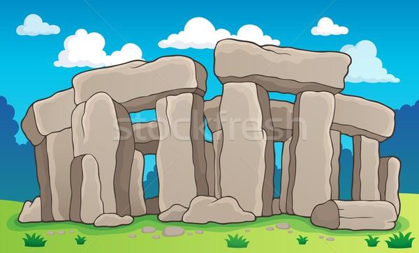 Anciens pierre design Rock architecture histoire Photo stock © clairev