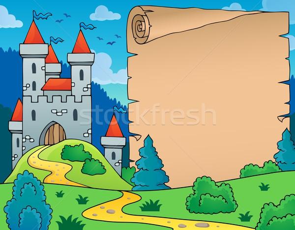 城 羊皮紙 画像 建物 芸術 パス ストックフォト © clairev
