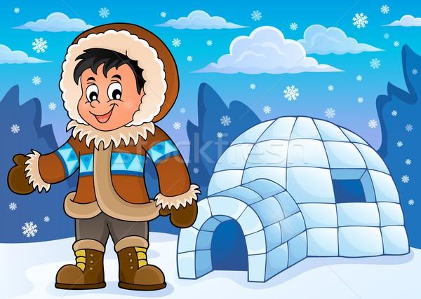 Inuit theme image 2 Stock photo © clairev