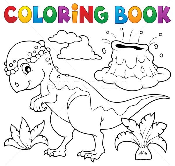 Coloring book dinosaur topic 5 Stock photo © clairev
