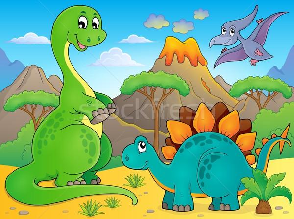 Image with dinosaur thematics 6 Stock photo © clairev
