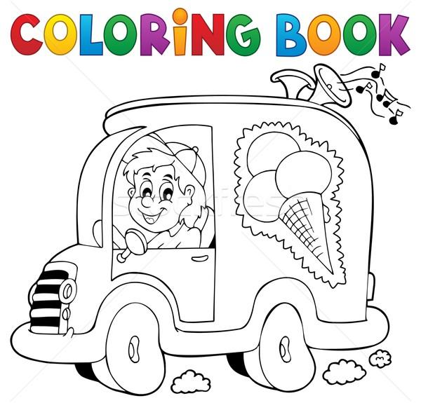 Carte De Colorat îngheţată Om Maşină Afaceri