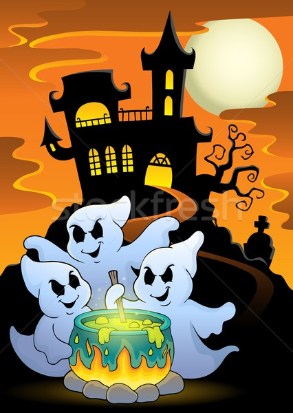 Ghosts stirring potion theme image 5 Stock photo © clairev