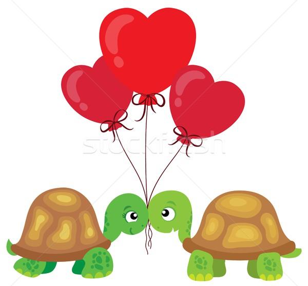 Valentine turtles theme image 2 Stock photo © clairev