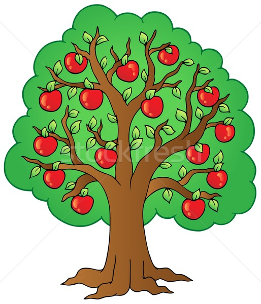 Cartoon apple tree Stock photo © clairev