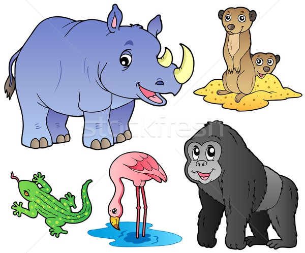 Stock photo: Zoo animals set 1