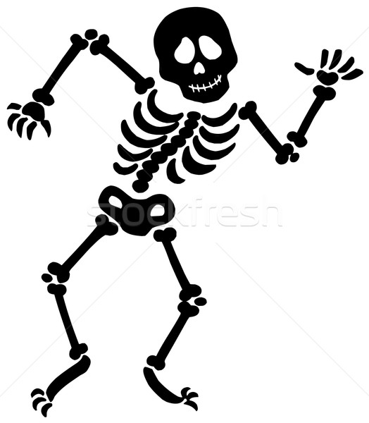 Dancing skeleton silhouette Stock photo © clairev