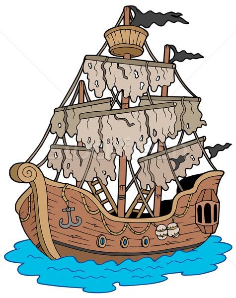 таинственный судно белый древесины морем искусства Сток-фото © clairev