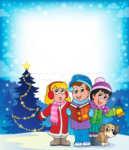 Christmas carol singers theme 4 Stock photo © clairev