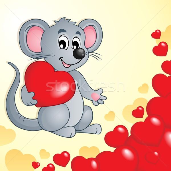 Walentynki myszą serca miłości serca pojęcia Zdjęcia stock © clairev
