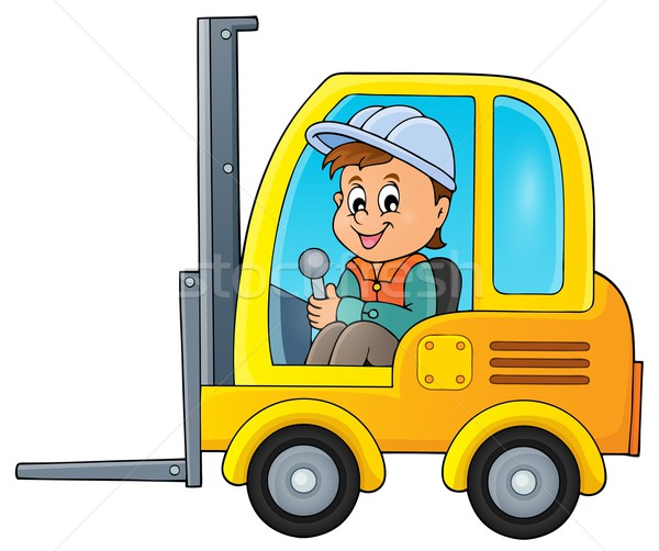 Fork lift truck theme image 2 Stock photo © clairev
