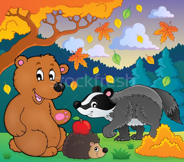 Forest wildlife theme image 4 Stock photo © clairev