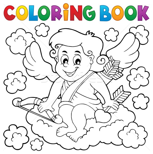 Coloring book with Cupid 3 Stock photo © clairev
