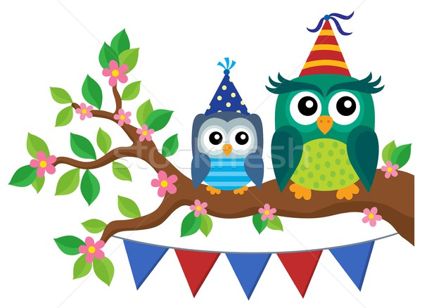 Party owls theme image 4 Stock photo © clairev