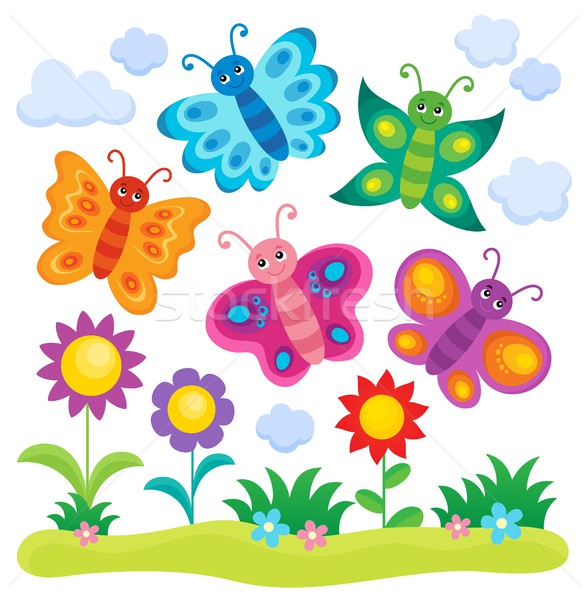 Stylized butterflies theme image 1 Stock photo © clairev