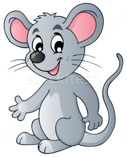 Bonitinho desenho animado mouse sorrir arte sorridente Foto stock © clairev