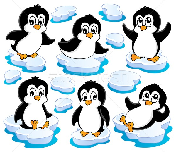 Cute penguins collection 2 Stock photo © clairev