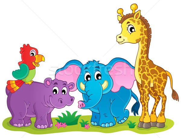 Cute African animals theme image 4 Stock photo © clairev