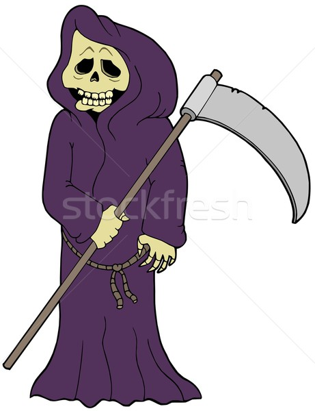 Cartoon grim reaper Stock photo © clairev