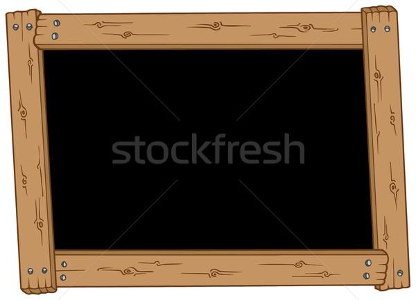 Wooden blackboard Stock photo © clairev