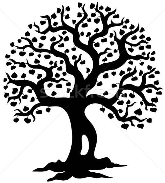Stock photo: Spring tree silhouette