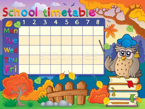 School timetable composition 1 Stock photo © clairev