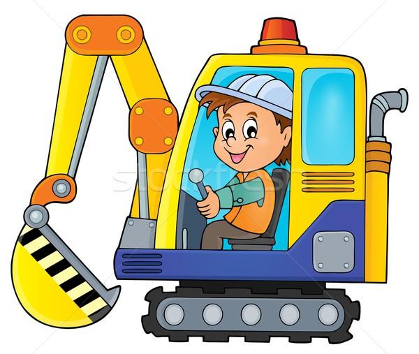 Excavator operator theme image 1 Stock photo © clairev