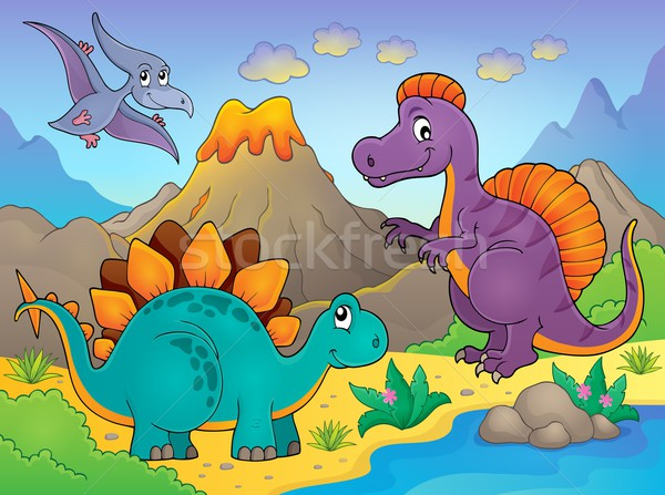 Dinosaur topic image 5 Stock photo © clairev