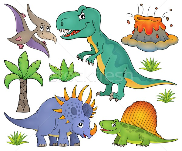 Dinosaur topic set 4 Stock photo © clairev