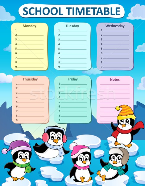 Weekly school timetable composition 2 Stock photo © clairev