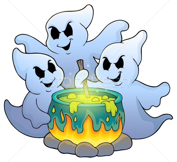 Ghosts stirring potion theme image 1 Stock photo © clairev