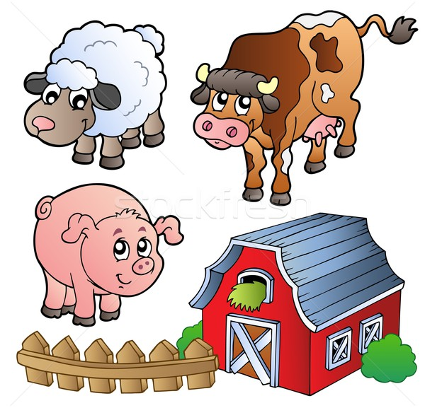 Collection of various farm animals Stock photo © clairev
