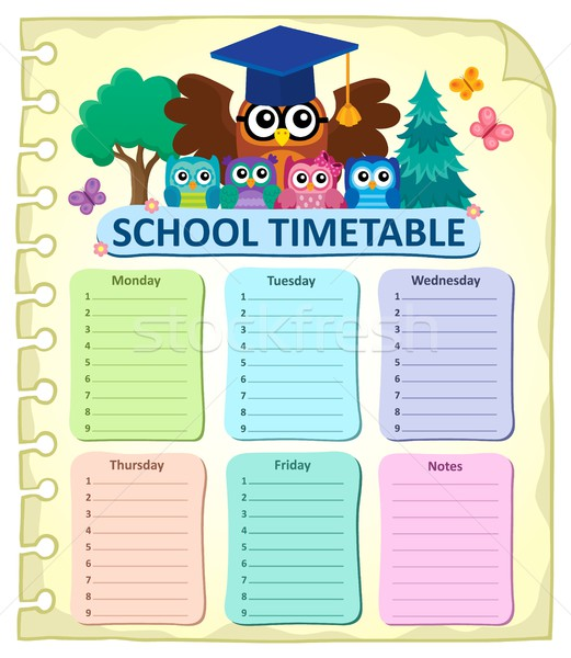 Weekly school timetable subject 7 Stock photo © clairev