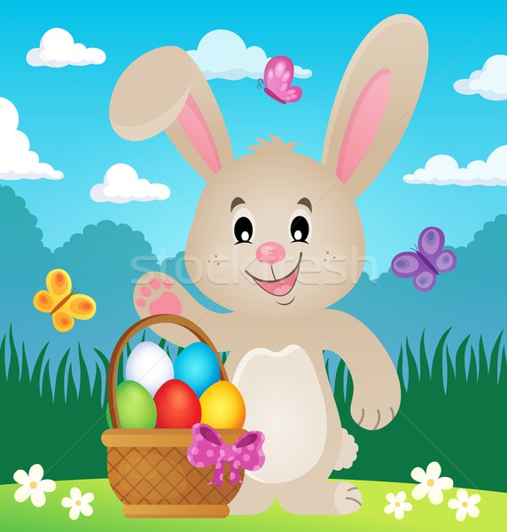 Stylized Easter bunny theme image 4 Stock photo © clairev