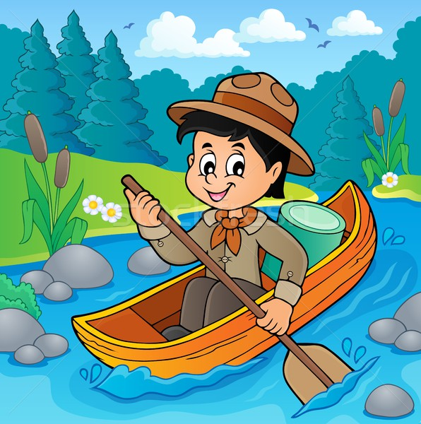 Water scout boy theme image 2 Stock photo © clairev