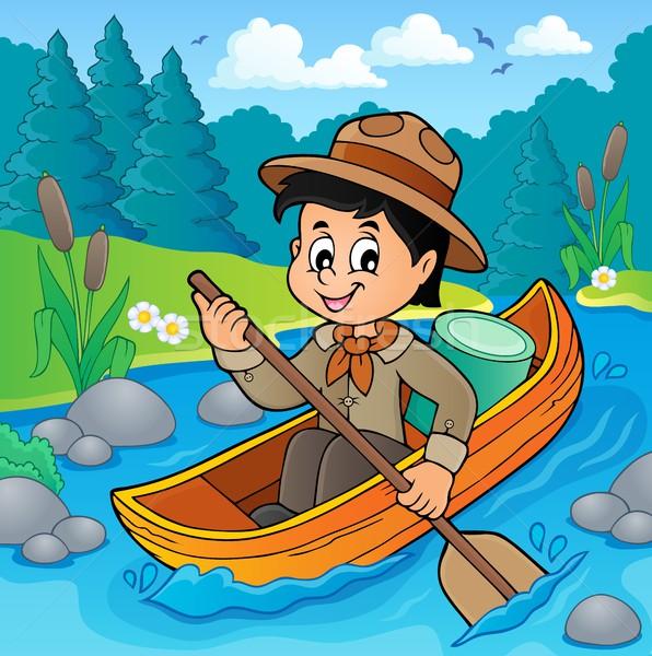 水 スカウト 少年 画像 笑顔 幸せ ストックフォト © clairev