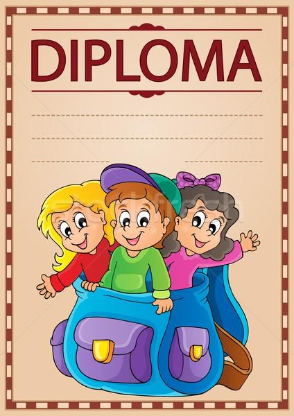 Diploma konu görüntü kâğıt çocuklar okul Stok fotoğraf © clairev
