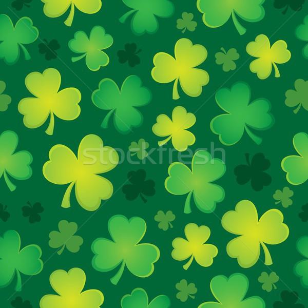 Drie blad klaver naadloos ontwerp bladeren Stockfoto © clairev