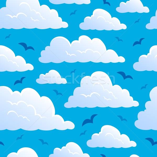 Bezszwowy chmury Chmura rysunek graficzne cartoon Zdjęcia stock © clairev
